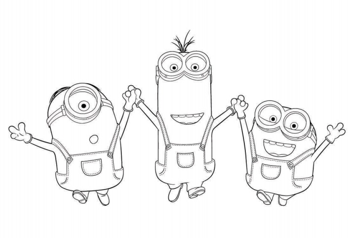 Coloriage minions imprimer moi moche et m chant for Minion birthday coloring pages