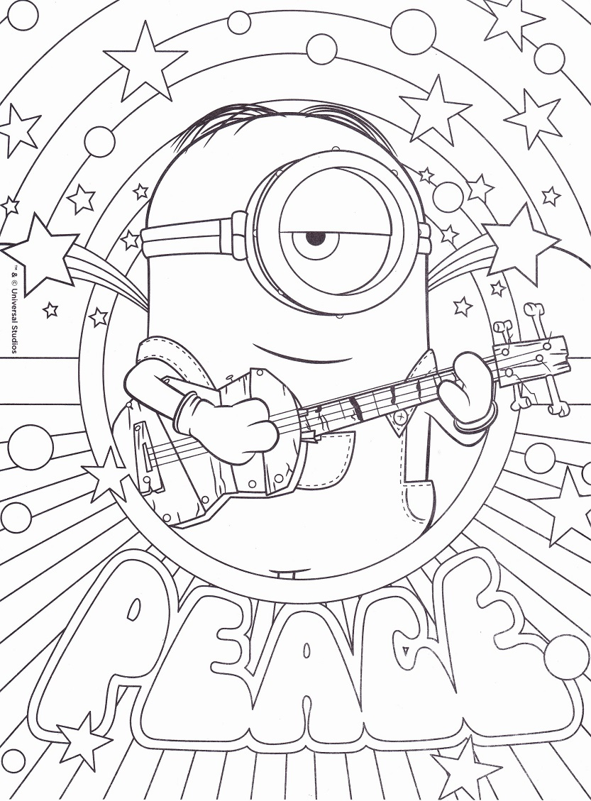 Minion Kevin coloring page | Free Printable Coloring Pages
