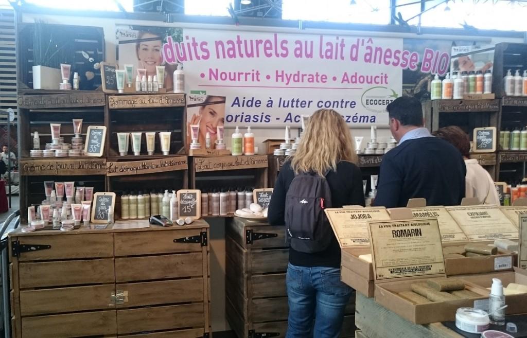 Salon vivez nature - produits au lait d'ânesse