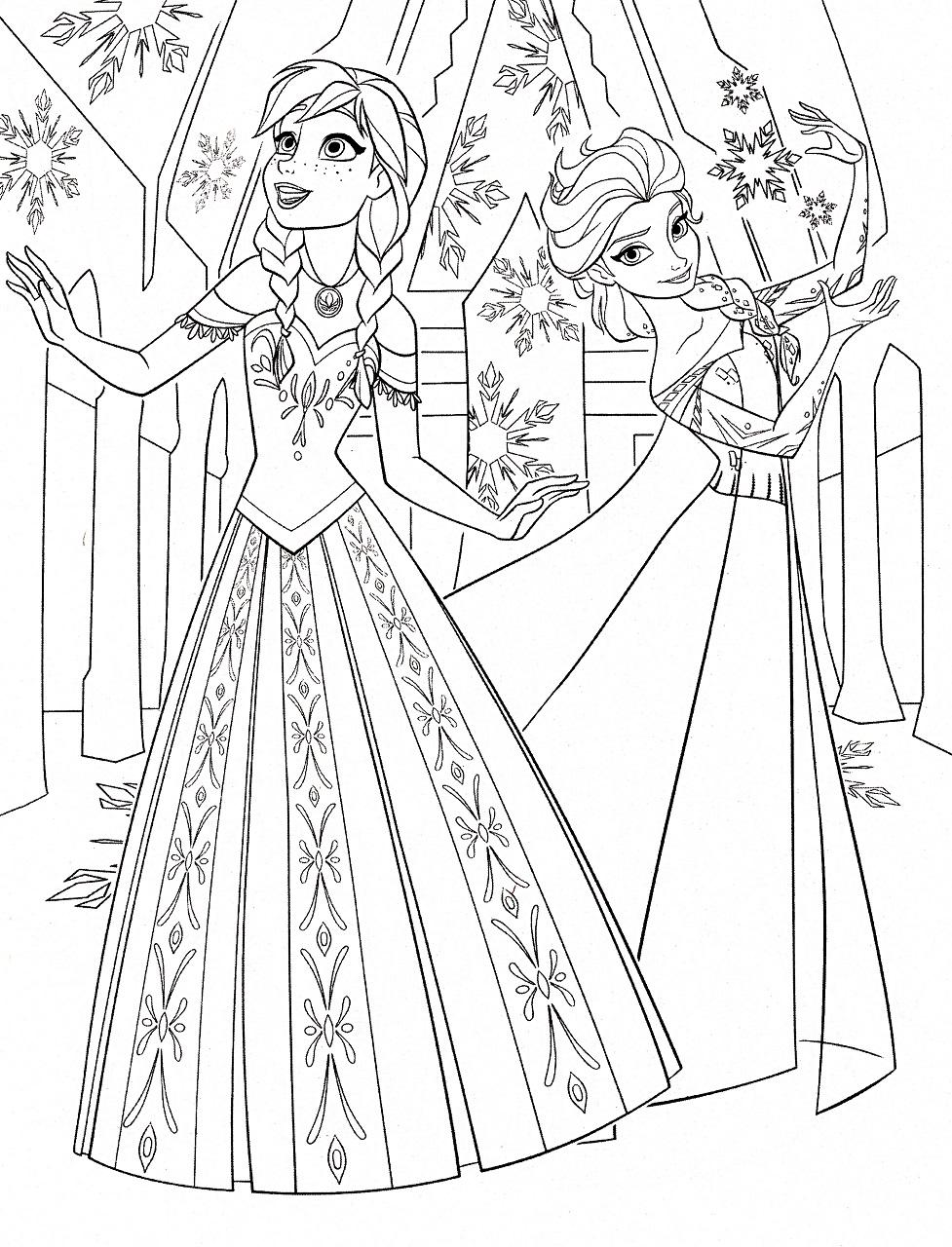 Coloriage reine des neiges pour les 2 ans du dessin anim frozen - Anna elsa reine des neiges ...