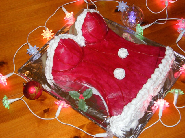 Gâteau buste de mère noël