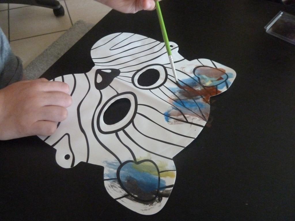 Activité enfants - Masques à peindre et à gonfler - 7