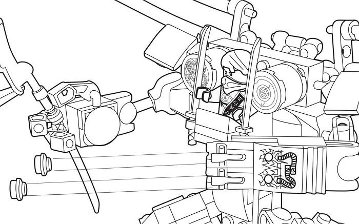 Coloriage Ninjago - Ninja dans un robot