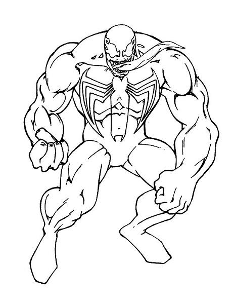 Coloriage Spiderman à imprimer gratuit - Venom