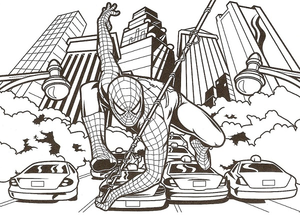 Coloriage spiderman spiderman imprimer gratuit - Dessiner spiderman facile ...