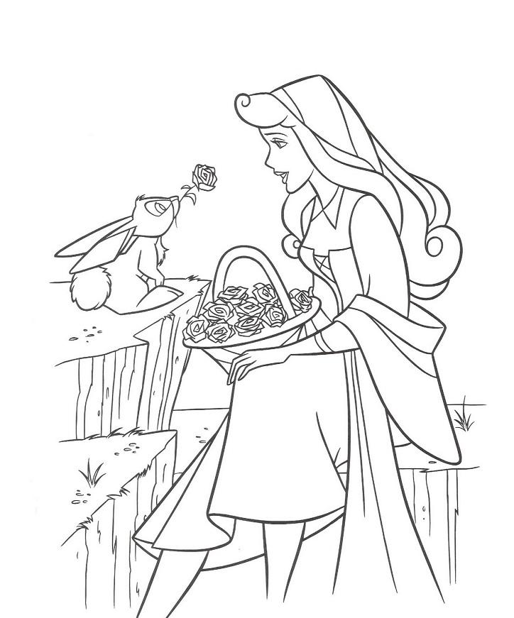 Coloriage de princesse à imprimer gratuit - 23