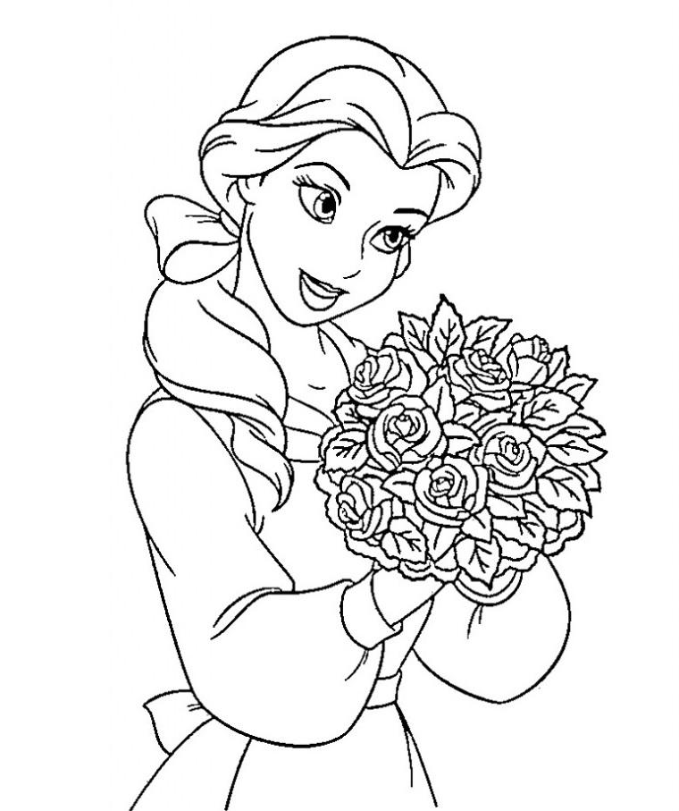 Coloriage de princesse à imprimer gratuit - 24