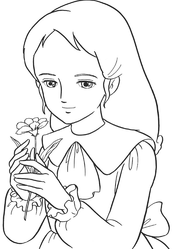 Coloriage de princesse à imprimer gratuit - Princesse Sarah