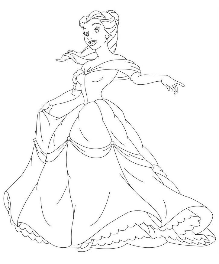 Coloriage de princesse à imprimer gratuit - 22