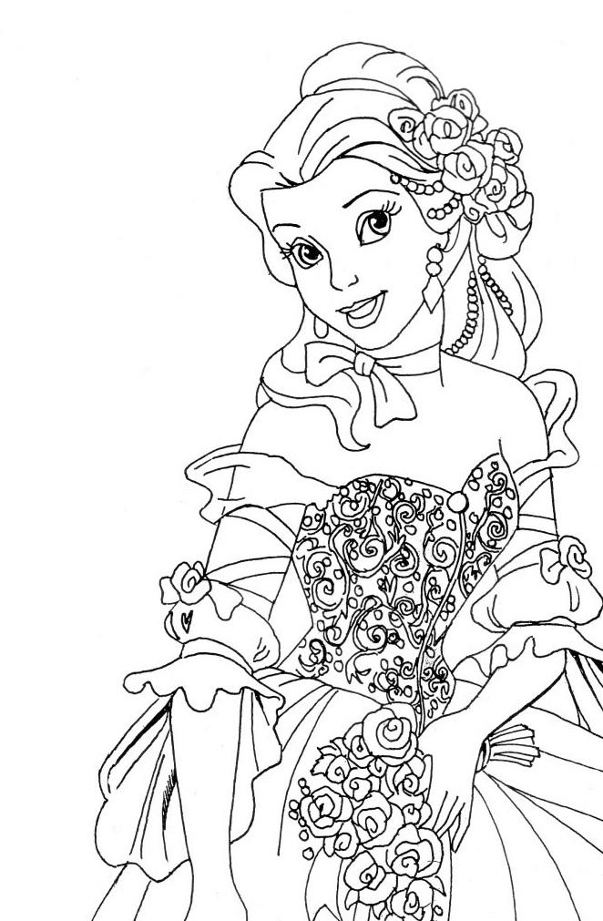 Coloriage de princesse à imprimer gratuit - 7