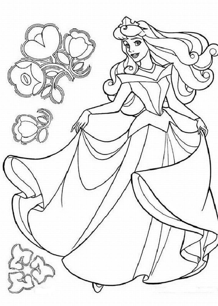 Coloriage en ligne princesse à imprimer gratuit - 17