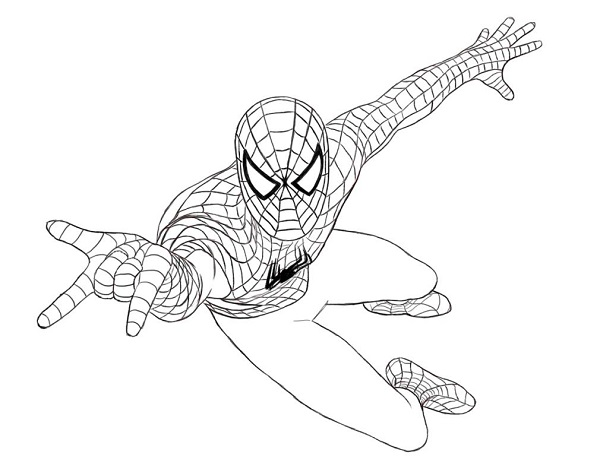 Coloriage gratuit de Spiderman