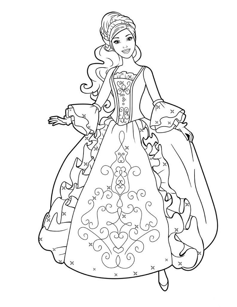 Coloriage princesse à imprimer gratuit - 31