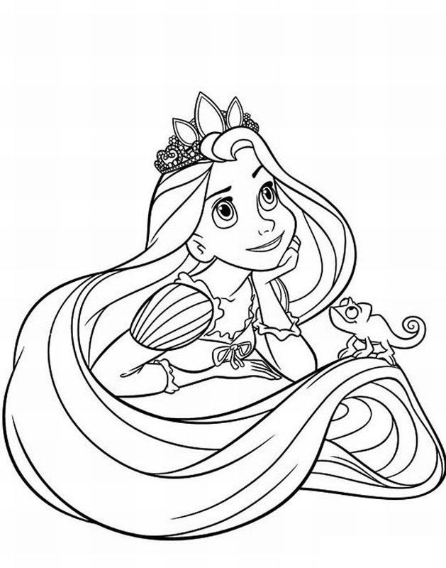 Coloriage princesse à imprimer gratuit - Raiponce 2