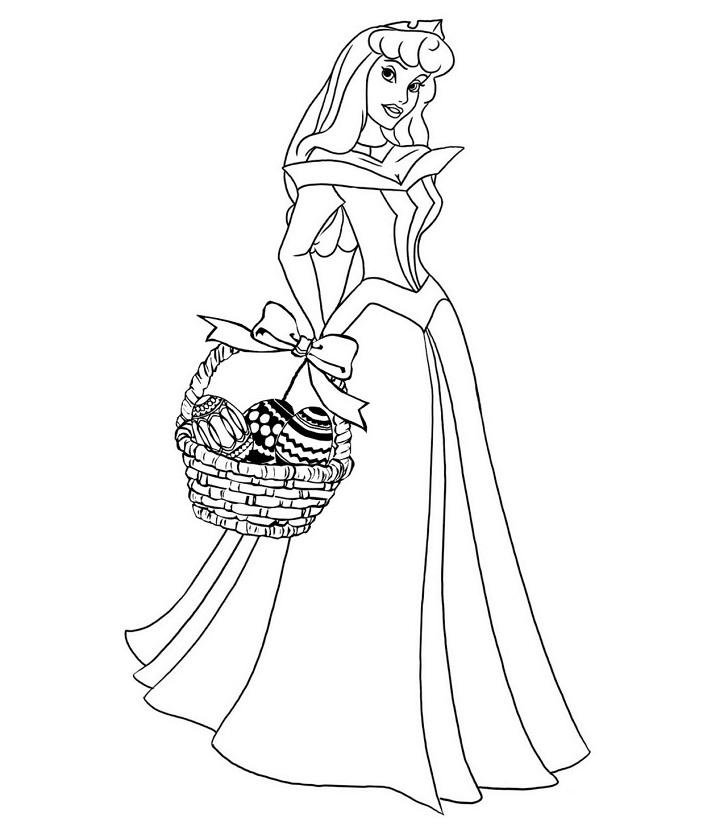 Coloriage princesses à imprimer gratuit - 13