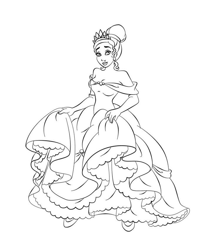 Coloriage princesses à imprimer gratuit - 14