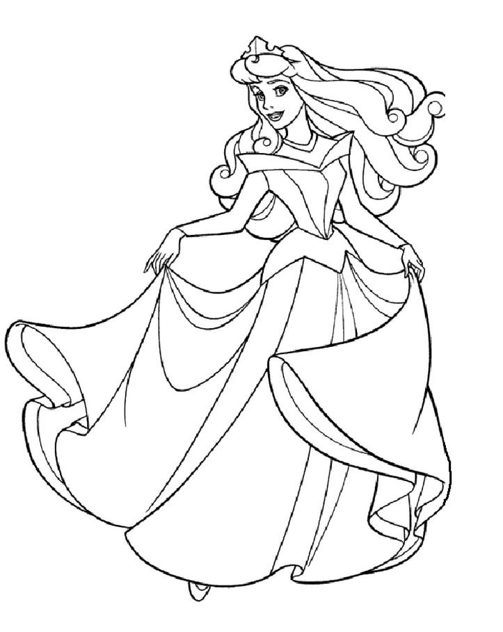 Coloriage princesses à imprimer gratuit - 15