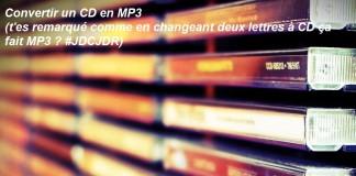 Comment convertir un CD audio en MP3