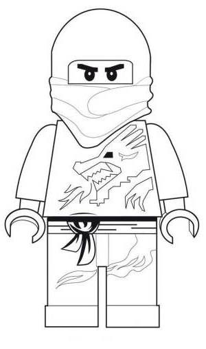 Coloriage gratuit de Ninjago à télécharger et imprimer - Coloriage Kai ninja rouge