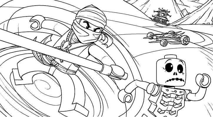 Coloriage gratuit de Ninjago à télécharger et imprimer - 17