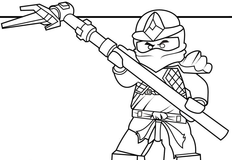 Coloriage gratuit de Ninjago à télécharger et imprimer - Coloriage Ninjago Cole