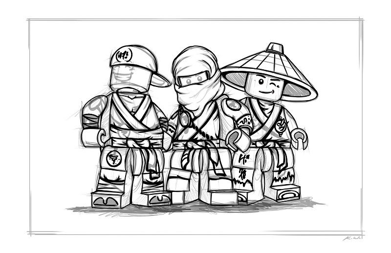 Coloriage gratuit de Ninjago à télécharger et imprimer - 13