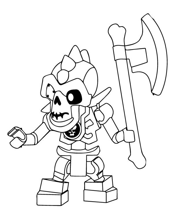 Coloriage gratuit à imprimer Ninjago - squelettes 2
