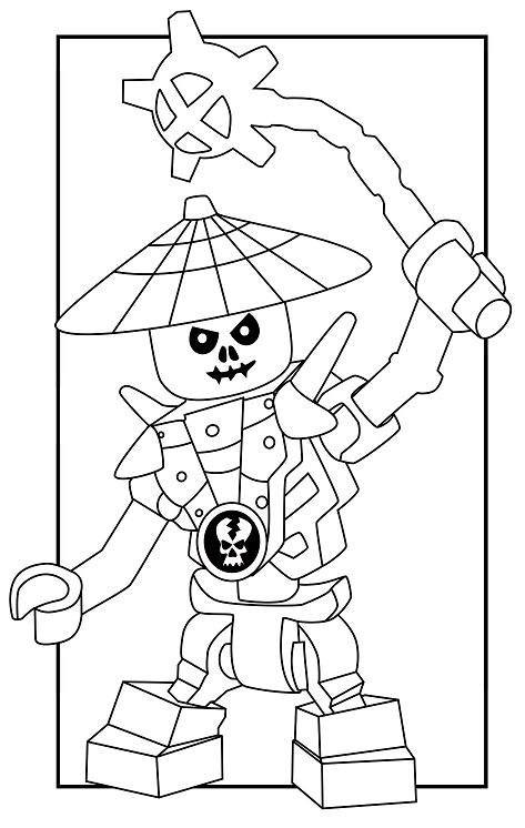 Coloriage gratuit à imprimer Ninjago - squelettes 4