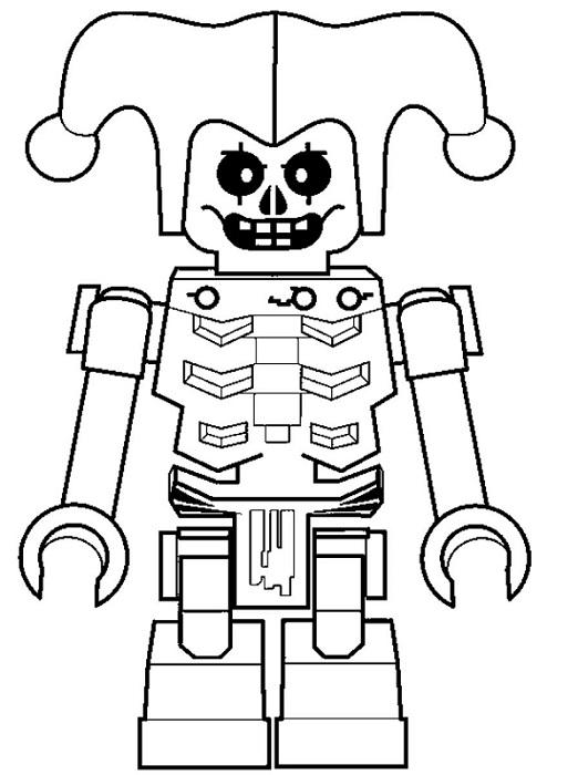 Coloriage gratuit à imprimer Ninjago - squelettes 5