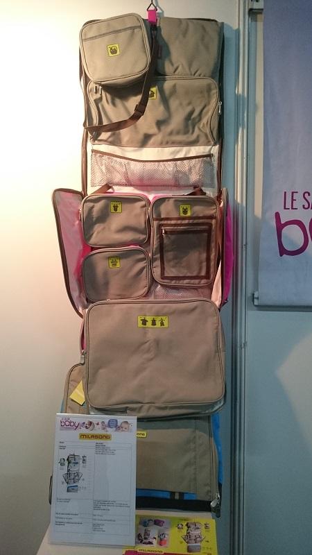 Milasong et son sac à langer transportable très pratique !