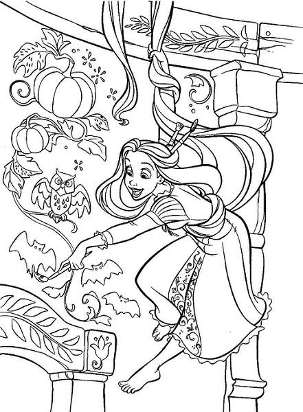 coloriage de Raiponce à imprimer 38