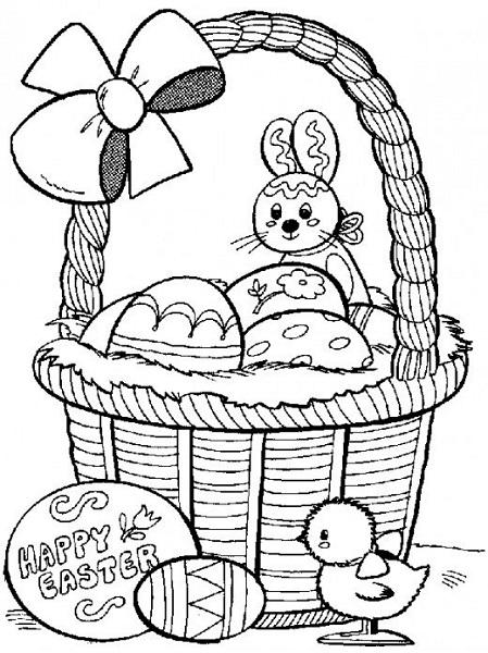 coloriage lapin de paques 3