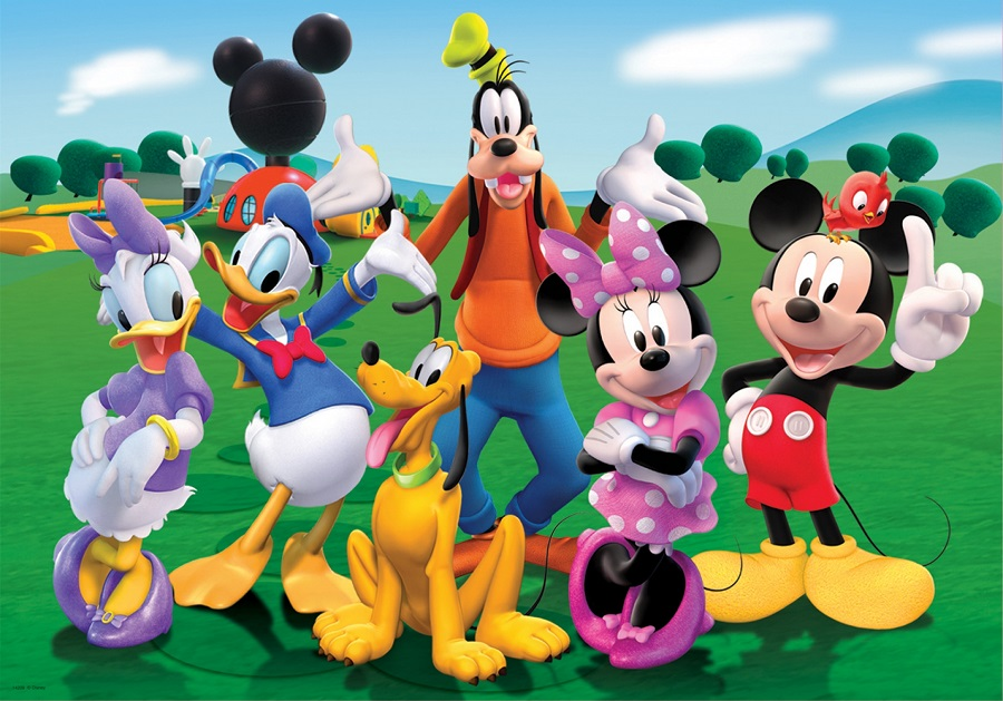 Coloriage Mickey à Imprimer (Mickey Noël, Mickey Bébé