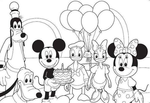 coloriage maison mickey