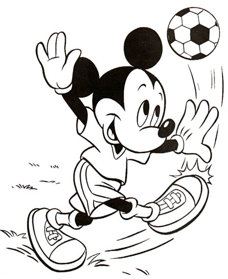 Coloriage Mickey à imprimer - Mickey foot