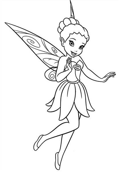 Coloriage et dessin de la fée Clochette - Coloriage d'Iridessa, la fée lumineuse
