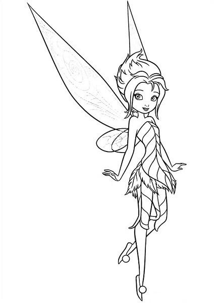 Coloriage et dessin de la fée Clochette - Coloriage de Cristal la Fée des Glaces 2