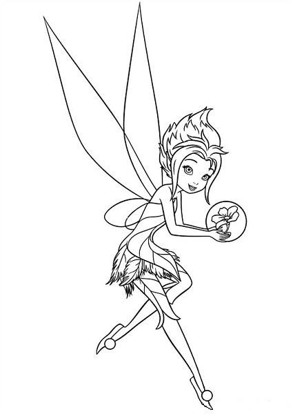 Coloriage et dessin de la fée Clochette - Coloriage de Cristal la Fée des Glaces