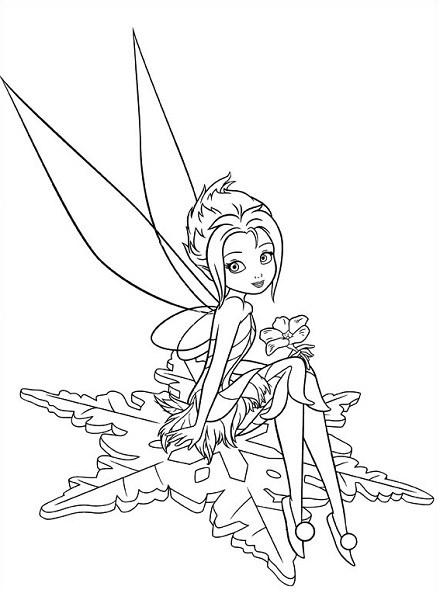 Coloriage et dessin de la fée Clochette - Coloriage de la Fée des Glaces, Cristal