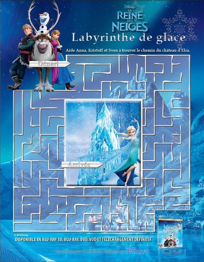 Activité Reine des Neiges - Le labyrinthe de glace