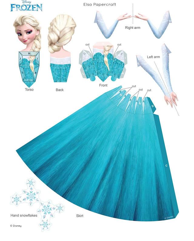 Activité Reine des Neiges - Papercraft Elsa