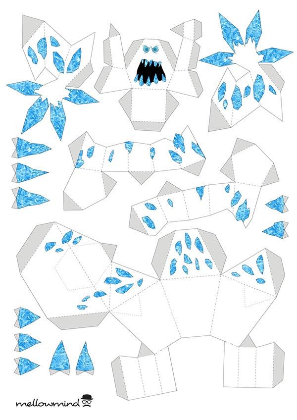 Activité Reine des Neiges - Papercraft Guimauve