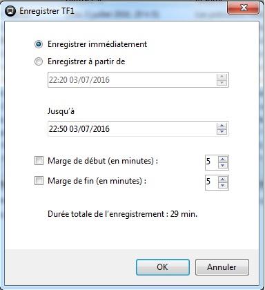 Captvty - Logiciel de replay et enregistrement tv - Tutoriel - Programmer un enregistrement tv