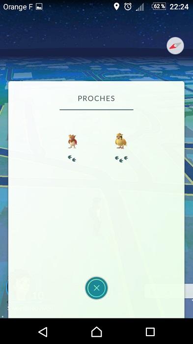 Pokémon Go - Tutoriel et astuces - Les Pokémons proches