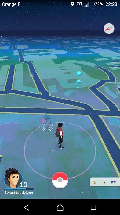 Pokémon Go - Tutoriel et astuces - Un Pokémon se trouve dans les parages