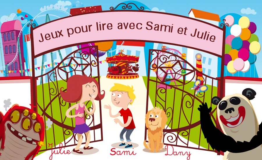 Test et avis de l'application de lecture Sami et Julie - Accueil du jeu
