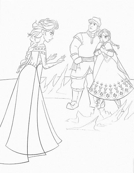 coloriage à imprimer reine des neiges - Elsa a peur de ses pouvoirs