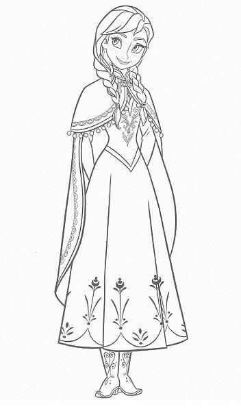 coloriage de la reine des neiges - Coloriage d'Anna