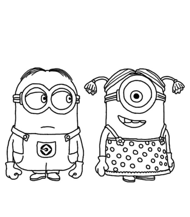 coloriage et dessin de minion
