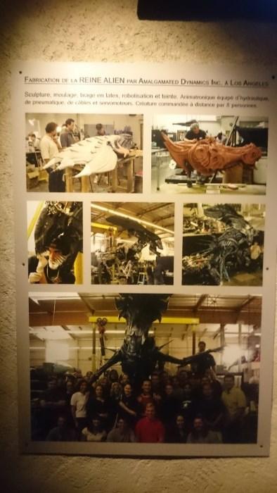 Musée miniature et cinéma de Lyon - Explication sur la fabrication de la reine Alien